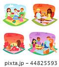 ピクニック 人々 人物のイラスト 44825593