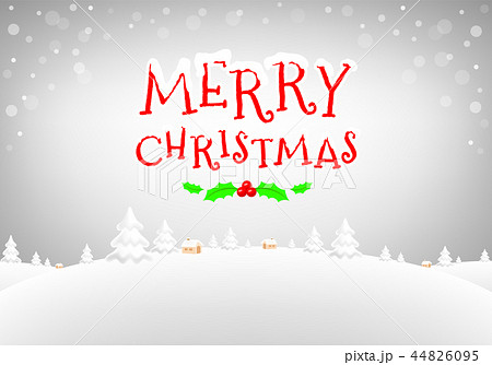 Merry Christmas typography design 44826095