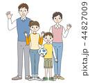 家族 人物 仲良しのイラスト 44827009