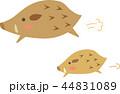 亥 猪 年賀状素材のイラスト 44831089