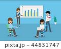ビジネスマン 会議 チームワークのイラスト 44831747
