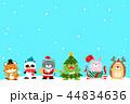 動物 クリスマス ねこのイラスト 44834636