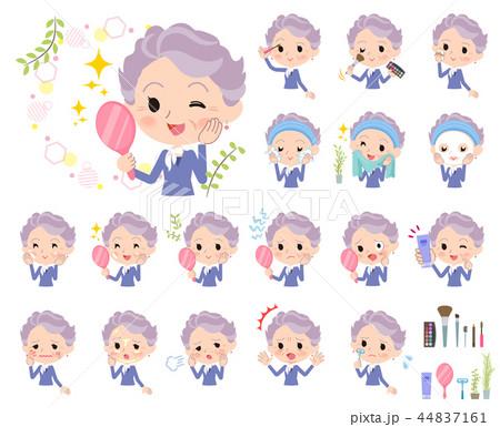 blue one piece old women_beauty 44837161