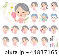 女性 シニア ビューティーのイラスト 44837165
