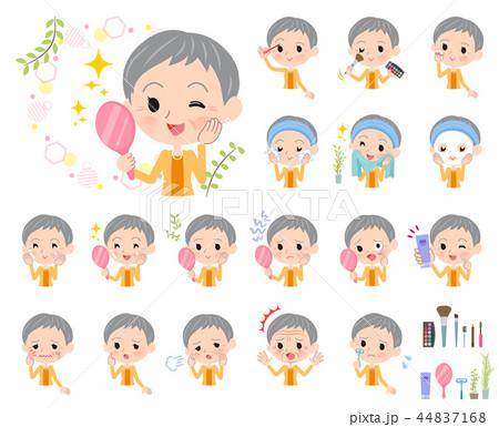 short hair old women_beauty 44837168