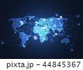 ネットワーク 通信 グローバルのイラスト 44845367