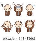 表情 人物 老人のイラスト 44845908