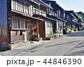 長野県、木曽福島宿の古い街並み 44846390