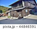 長野県、木曽福島宿の古い街並み 44846391