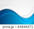 青 青い ウェイブのイラスト 44846471