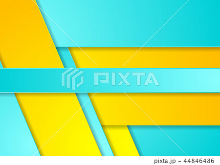 Bright cyan yellow abstract corporate background 44846486