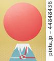 富士山 ご来光 和柄のイラスト 44848436