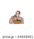食べる 白バック 食事のイラスト 44848461