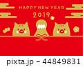 2019 亥 年賀状 44849831