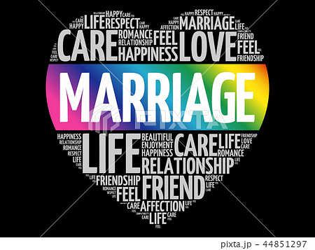 marriage word cloud collageのイラスト素材 44851297 pixta