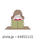 読書 女の子 本のイラスト 44852115