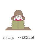 読書 女の子 本のイラスト 44852116