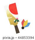 正月 羽子板 年賀状素材のイラスト 44853394