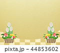 和-和風-和柄-背景-金箔-市松模様-門松-正月 44853602