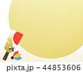 和柄 羽子板 年賀状素材のイラスト 44853606