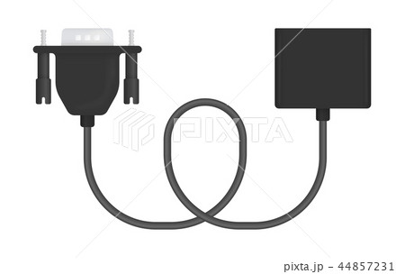Vector Illustration of VGA to Adapter 44857231