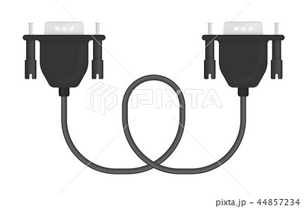 Vector Illustration of VGA Cable 44857234