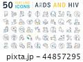 エイズ HIV イコンのイラスト 44857295