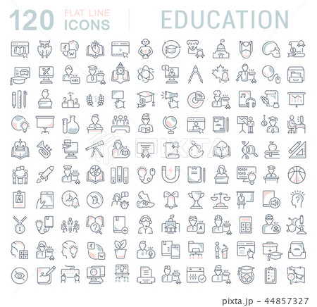 Set Vector Line Icons of Education. 44857327