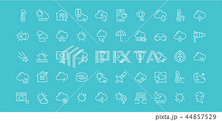 Set of Line Icons of Weather. 44857529