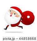 Happy Christmas character Santa claus cartoon 015 44858668