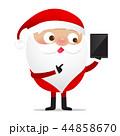 Happy Christmas character Santa claus cartoon 017 44858670
