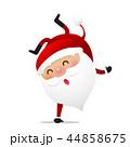 Happy Christmas character Santa claus cartoon 022 44858675