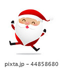 Happy Christmas character Santa claus cartoon 027 44858680