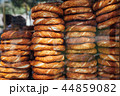 Stacks of simit bread in Istanbul, Turkey 44859082