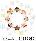 子供達 囲む ベクターのイラスト 44859933
