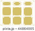 ヴィンテージ風な金の飾り罫セット 44864005