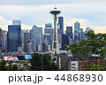Seattle, Washington city center with a cloudy sky 44868930