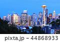 View of Seattle, Washington skyline at twilight 44868933