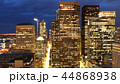 Aerial view Seattle, Washington city center night 44868938