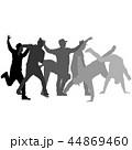 ダンス 人影 影のイラスト 44869460