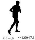 ランナー 走者 全力疾走のイラスト 44869478