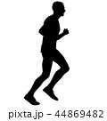 ランナー 走者 全力疾走のイラスト 44869482