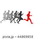 ランナー 走者 セットのイラスト 44869858