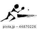 卓球 ピンポン シングルスのイラスト 44870226