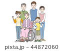 家族 3世代 介護のイラスト 44872060