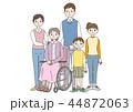 家族 3世代 介護のイラスト 44872063