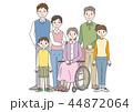 家族 3世代 介護のイラスト 44872064