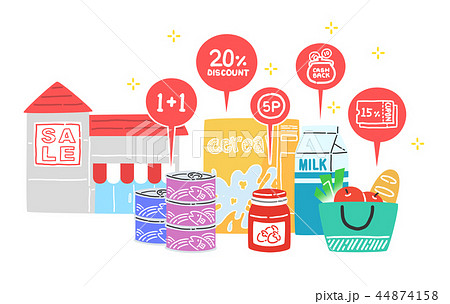 Vector - Enjoy the benefits of on&off-line shopping. Cash back, earn points for every purchase and discount coupon vector illustration 007 44874158