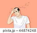 脱毛症 はげ ハゲのイラスト 44874248