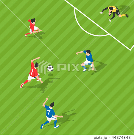 Vector - Aerial view of sport games in flat design style illustration 001 44874348